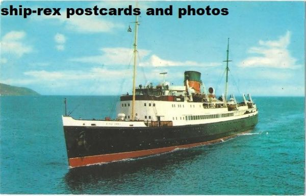KING ORRY (1946, Isle Of Man Steam Packet) postcard (b)